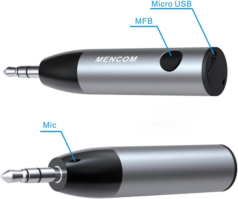 Lovebay bala estilo Mini Bluetooth V4.1/m/úsica receptor adaptador audio AUX De 3,5/mm Altavoz inal/ámbrico Bluetooth coche Kit para casa inteligente auriculares altavoces etc Receptor Bluetooth