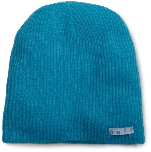 Neff Unisex Daily Beanie, Warm, Slouchy, Soft Headwear, Cyan, One Size