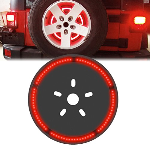 Spare Tire Wheel LED 3rd Third Brake Light Lamp Ring for Jeep Wrangler JK