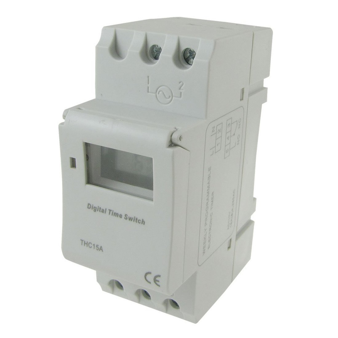 THC15A Programmable Timer - SODIAL(R)DIN Rail Mounting Weekly Programmable Electronic Timer THC15A AC 110V
