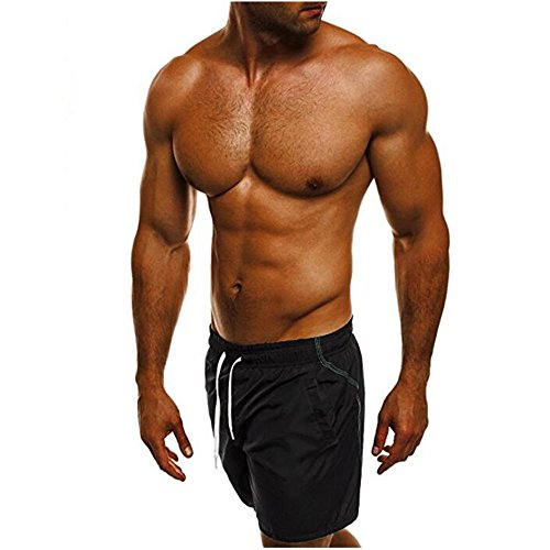 (Sunyastor Mens Swim Trunks Shorts,Men's Running Surfing Sports Pants Print Beach Surfing Swimming Training Waist Casual Pants)