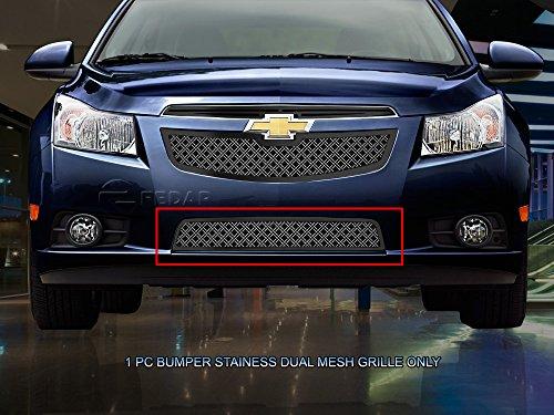 (Fedar Lower Bumper Dual Weave Mesh Grille for 2011-2014 Chevy Cruze LT/LTZ Selected Models)