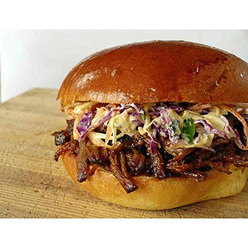 Hicks Hickory Smoked BBQ Boneless Chopped Beef Brisket with Sauce, 5 Pound - 2 per case. -