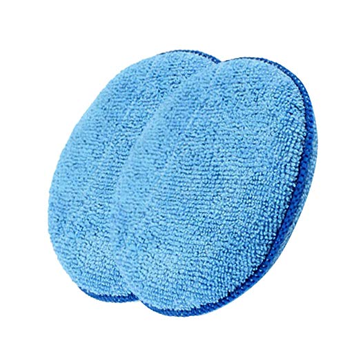NszzJixo9 2pcs Microfibre Foam Sponge Polish Wax Applicator Pads Car Home Cleaning Ideal Choice Car Best Polishing Action Professional Cleaning Around Home