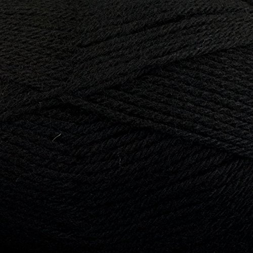 Plymouth Galway 100% Wool (Plymouth (1-Pack) Galway Worsted Yarn Black 0009-1P)