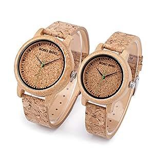 Relojes de Corcho Natural para Hombre y Mujer (Hombre)