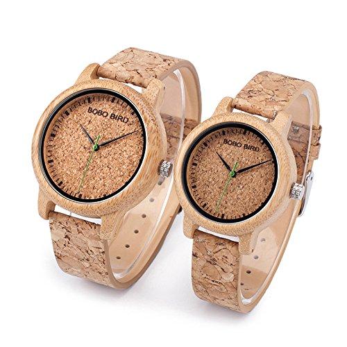 Relojes de Corcho natural para hombre y mujer (Mujer)