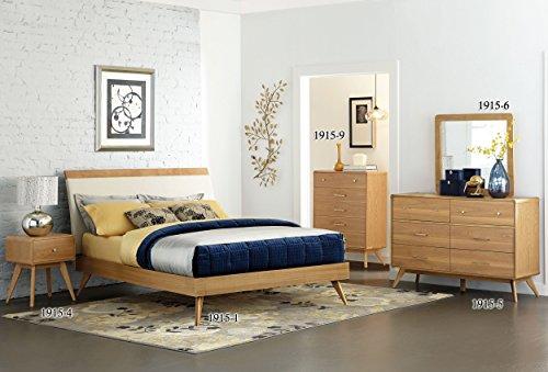 Homelegance Anika Danish Mid-Century Platform Bed, Queen, Li