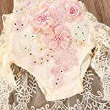Infant Baby Girls Sleeveless Romper Floral Lace