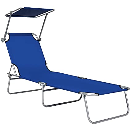 Amazon.com: GYMAX - Silla reclinable plegable para patio ...