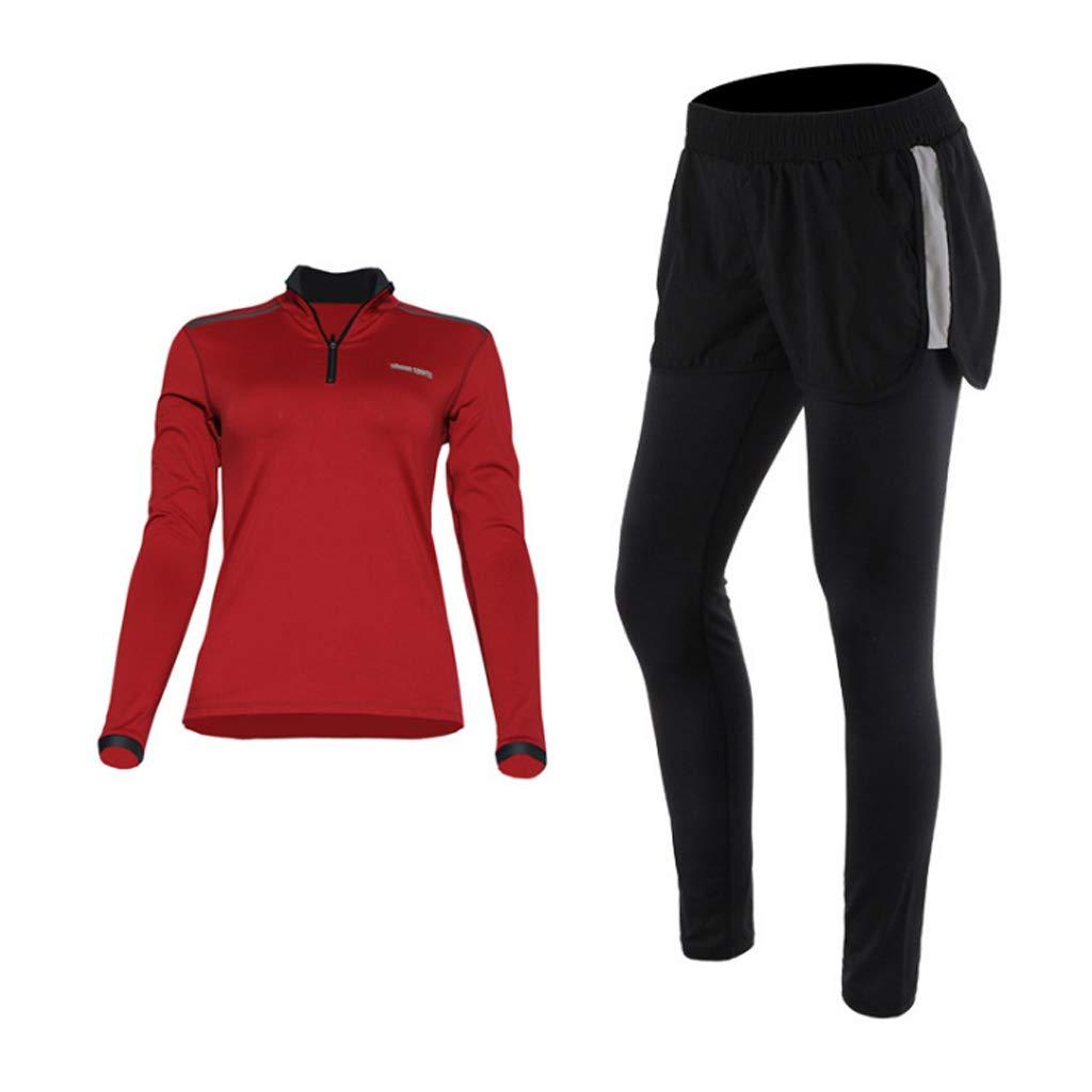 Lilongjiao Yoga-Bekleidung Anzug langärmelig Yoga Laufhose Sportbekleidung Fitness-Bekleidung Strumpfhosen Zweiteilig