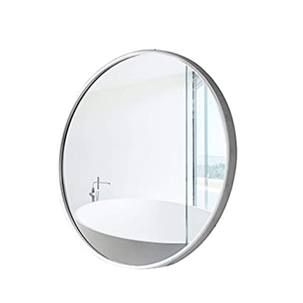 Amazon Com Modern Gold White Circle Frame Wall Mirror