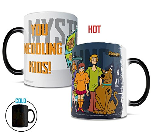 Scooby Doo - Scooby Gang Mystery Inc - Morphing Mugs Heat Sensitive Mug - Ceramic Color Changing Heat Reveal 11 oz Coffee Tea Mug - by Trend Setters Ltd.