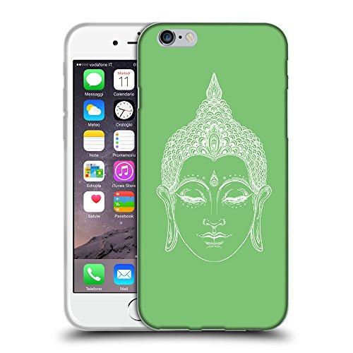 "GoGoMobile Coque de Protection TPU Silicone Case pour // Q09150629 Bouddha 33 Pastel Vert // Apple iPhone 6 PLUS 5.5"""