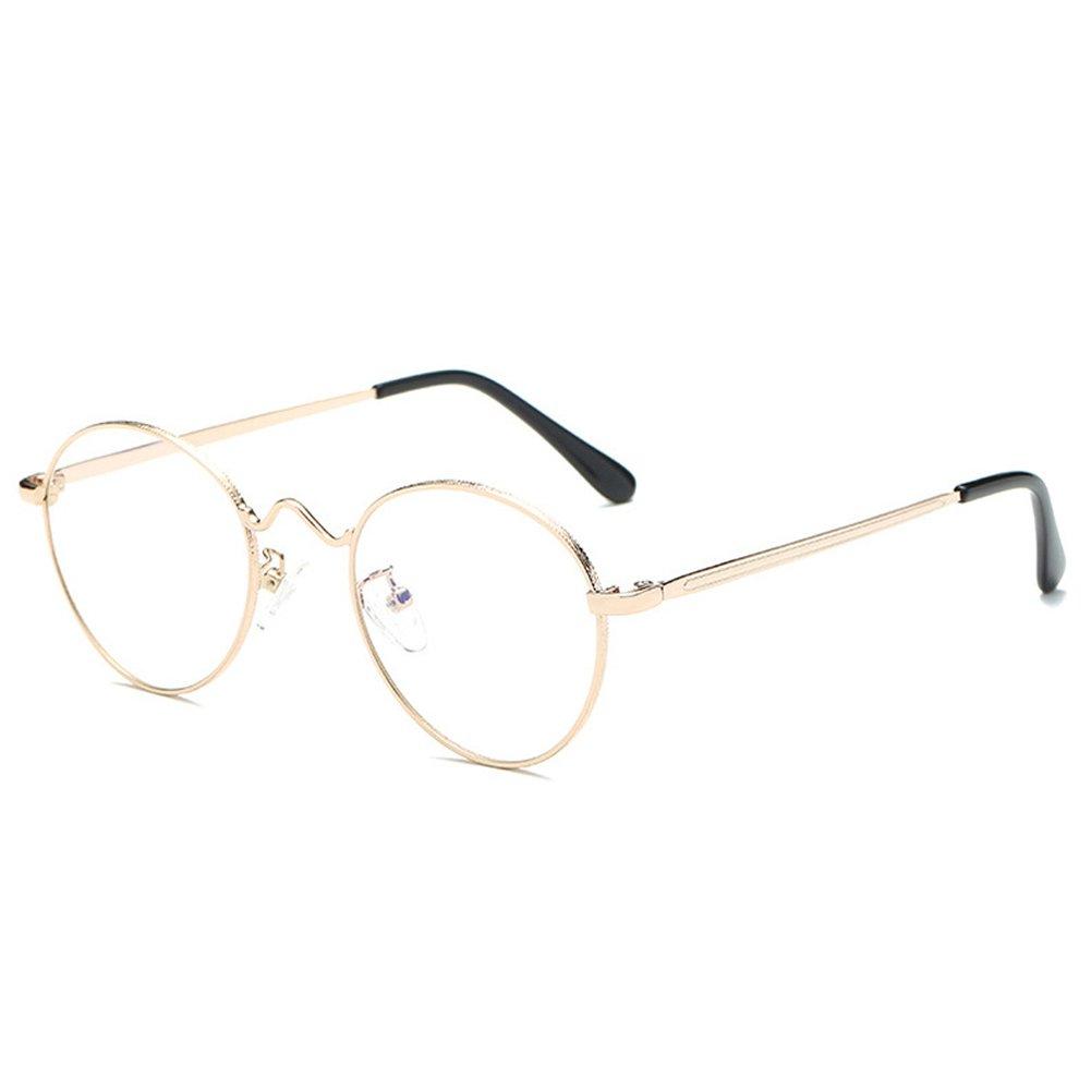 a4eb74f686 Fuyingda Nouveau mode rétro personnalité lunettes métal rondes verres  légers de cadre design Lunettes et Accessoires Femme