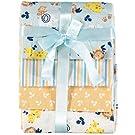 Cudlie Receiving Blankets - 4 Pack (Blue)