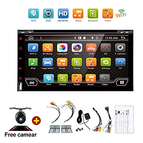 Navigation Seller - 2 Din Android 6.0 Quad-Core 7inch Full-Touch Car PC Tablet double 2din Audio GPS Navigation Car Stereo Radio With DVD mp3 Player Bluetooth wifi mirror link (Dab Car Audio)