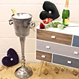 Floor Standing Champagne Bucket Distressed Look Heavy Wine Cooler Ice Bucket