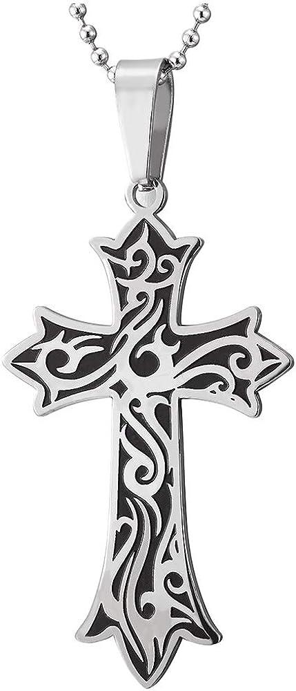 iMETACLII Exquisitos Tribal Tatuaje Cruz Collar, Cruce Colgante de ...