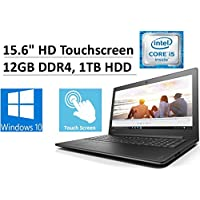 2017 New Flagship Lenovo Ideapad 15.6 HD WLED-Backlit Touchscreen Business Laptop, Intel Dual-Core i5-7200U 2.5GHz, 12GB DDR4, 1TB HDD, Intel HD 620 Graphics, DVDRW, WLAN, HDMI, Bluetooth, Windows 10