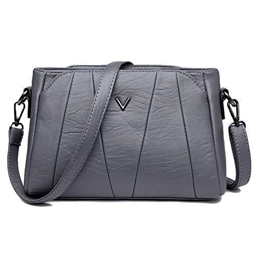 Sanxiner Women's Crossbody Bag Classic Purse Clutches Bags Shoulder Handbags (A-Grey)