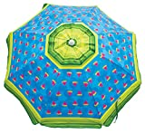 Rio Beach 6' Beach Umbrella with Sun Block, Watermelon