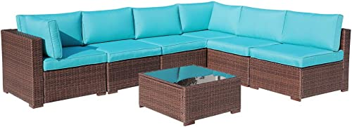 OC Orange-Casual Outdoor Sectional Sofa Wicker Furniture Set