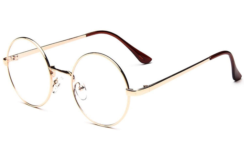 Amazon | (ゆうや)YoYeah 復古円形眼鏡 潮流金属フレーム眼鏡 金色 | ファッション眼鏡 通販
