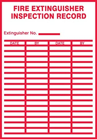 Accuform signs lfxg529xve safety label legend fire for Fire alarm log book template