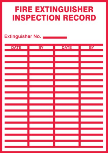 Accuform Signs LFXG529XVE EXTINGUISHER INSPECTION product image