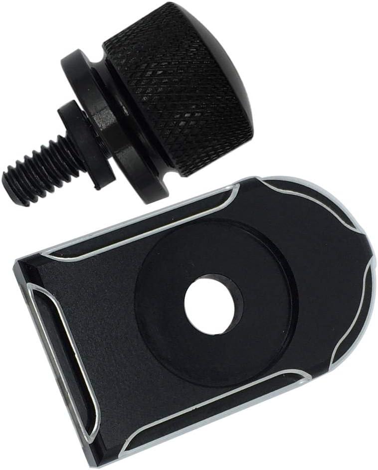 Rear Fender Seat Bolt Tab Screw Mount Knob Cover Kit Black for Harley Road Glide Ultra Street Glide 1996-2020
