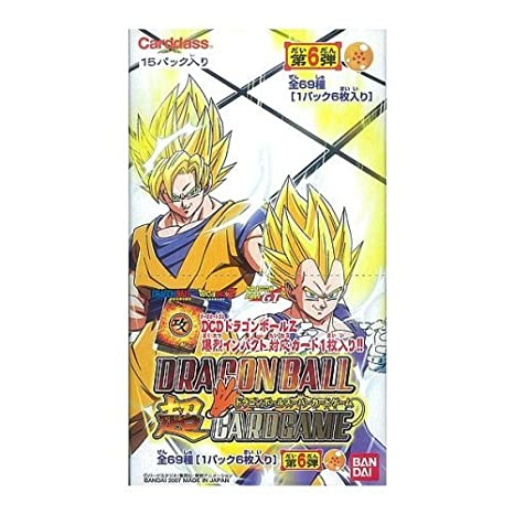 DRAGON BALL super CARD GAME 6 Booster Pack BOX (japan import ...