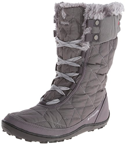 Columbia Women's Minx Mid II Omni-Heat Winter Boot, Shale/Bright Red, 5 M US