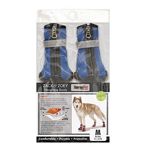 Zack & Zoey ThermaPet Neoprene Boots, Blue, Large ()