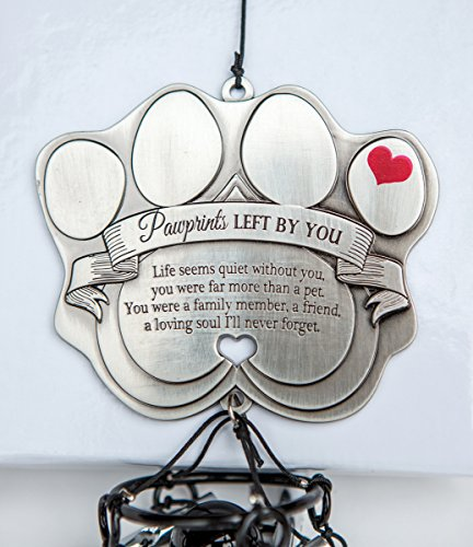 Pet-Memorial-Wind-Chime-12-Metal-Casted-Pawprint-Wind-Chime-A-Beautiful-Remembrance-Gift-For-a-Grieving-Pet-Owner-Includes-Pawprints-Left-By-You-Poem-Card