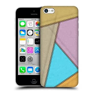 Carpet Leather Patched Up Snap-on Back Case Cover For Apple iPhone 5c