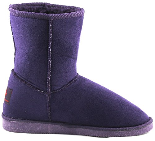 Canadians 266 237 Damen Halbschaft Stiefel Schlupfstiefel Purple Lila