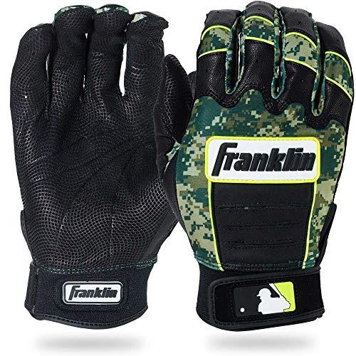 Franklin Sports Adult MLB CFX Pro Digi Series Batting Gloves, Pearl/Green, - Franklin Sports Green