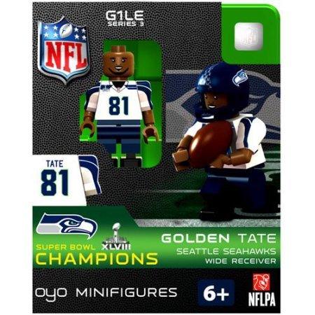 Amazon.com: NFL Super Bowl XLVIII Champions Golden Tate Minifigure ...
