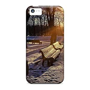 New Arrival Winter Sunset In The Park For Iphone 5c Case Cover