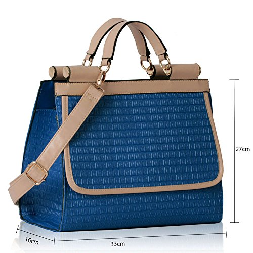 TrendStar - Bolso estilo cartera para mujer azul Z - Blue