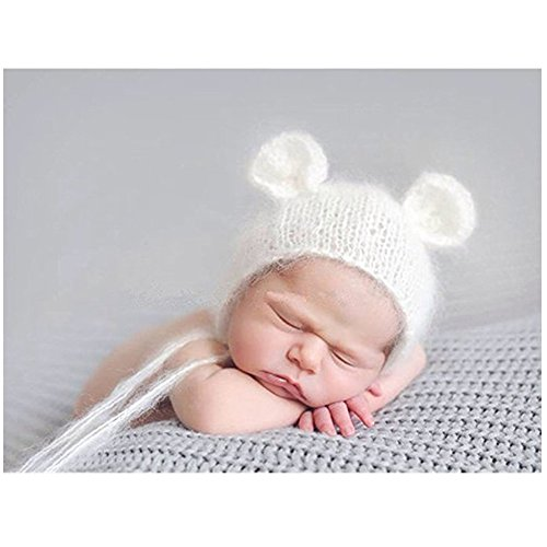 Fashion Newborn Boy Girl Baby Costume Outfits Photography Props Cute Bear Hat (2)