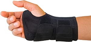 Carpal Tunnel Wrist Brace for Men and Women - Day and Night Therapy Support Splint for Relief of Arthritis, Wrists, Arm, Thumb and Hand Pain - Adjustable Straps (Right Hand - Small/Medium)