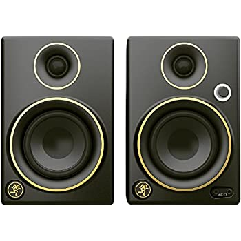 Marvelous Mackie CR5BT Limited Edition Gold Trim 5 In. Multimedia Monitors With  Bluetooth (Pair)