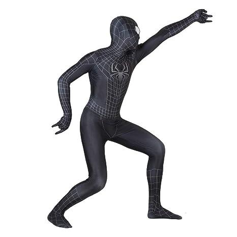 ERTSDFXA Traje Negro De Cosplay De Spiderman Superhero ...