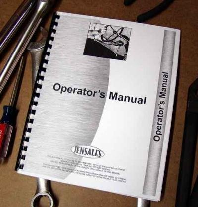 ALLIS CHALMERS 101 Rotary Cultivator . Operators Manual