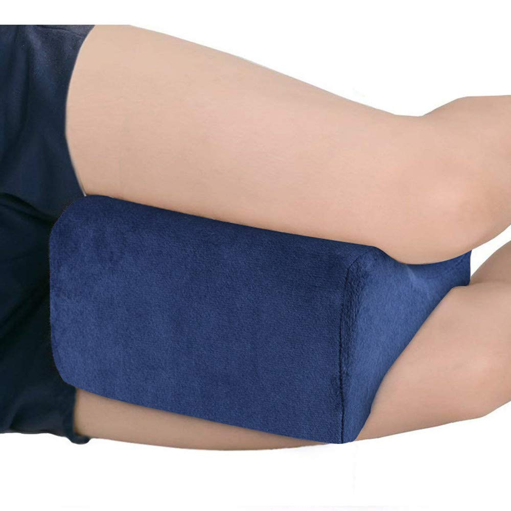Hip and Joint Pain eTACH Orthopedic Knee Pillows for Sciatica Relief Black Pregnancy Memory Foam Leg Pillow with Washable Cover Leg Pain Back Pain