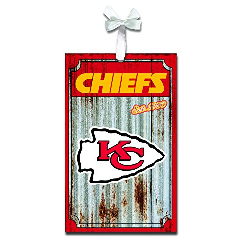 - Team Sports America 3OT3815MC Kansas City Chiefs Metal Corrugate Ornament
