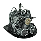Bauer Pacific Elaborate Steampunk Top Hat with Tubes Gears & Goggles