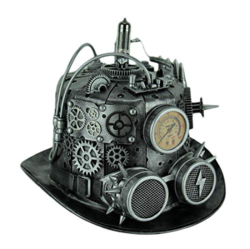 Bauer Pacific Elaborate Steampunk Top Hat with Tubes Gears & Goggles by Bauer Pacific